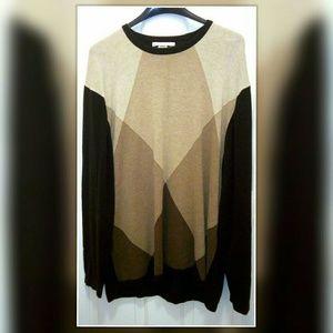 Geoffrey Beene Men's Brown Argyle Sweater (XL)